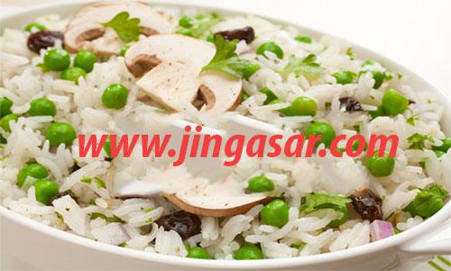 طرز تهیه سالاد برنج و نخود فرنگی